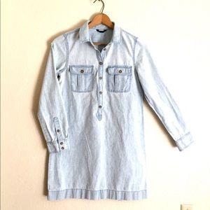 J Crew | Chambray Shirt Dress